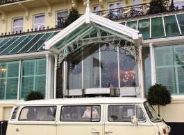 1972 Campervan for wedding hire in Brighton
